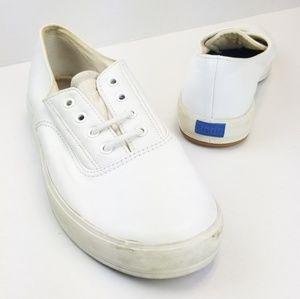 Vintage Leather Keds Sz 8 Sneakers White